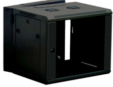 2 SECTION WALL MOUNTED BOX BLACK 6U 600 WIDE x 600 DEEP