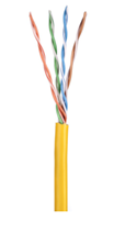ULTIMA CAT5E U/UTP DATA CABLE STRANDED PVC YELLOW 305M BOX