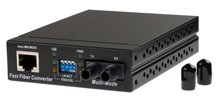 10-100 MULTIMODE MEDIA CONVERTER WITH ST ADAPTOR
