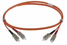 5M SC-SC 50-125UM DUPLEX FIBRE OPTIC PATCH LEADS, ORANGE