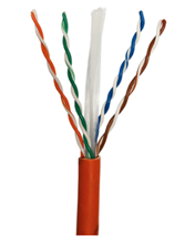 ULTIMA CAT6 U/UTP DATA CABLE LSZH ORANGE 305M BOX